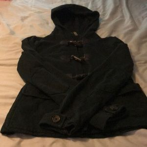 Twisted heart hooded jacket